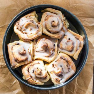 Marzipan cinnamon brioche rolls