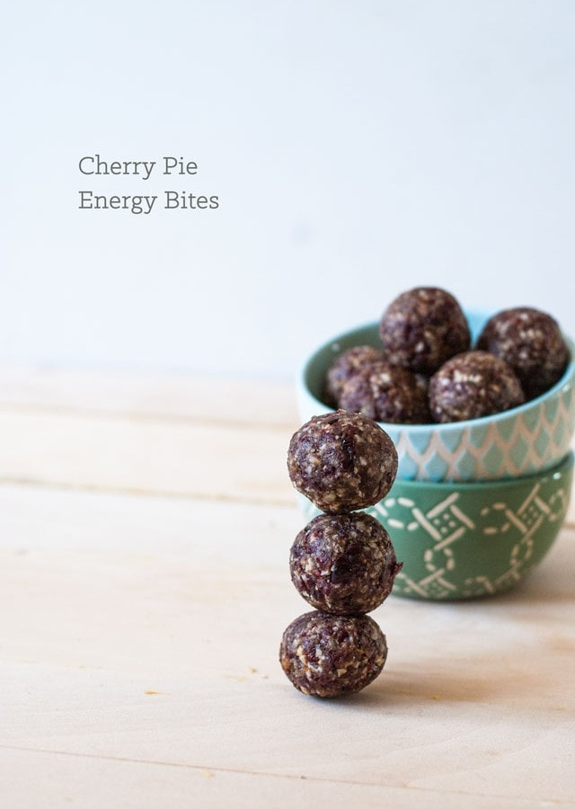Cherry pie Energy Bites