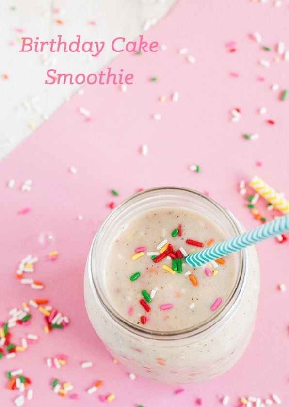 the best birthday cake smoothie