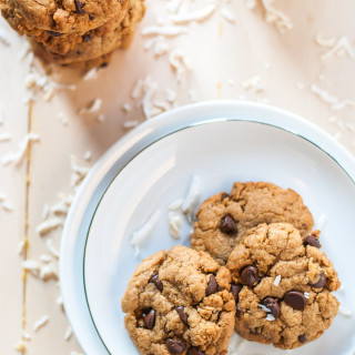 Light coconut chocolate chip cookies