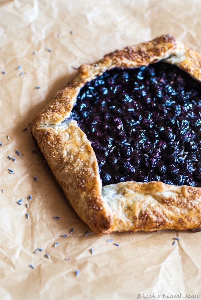 This blueberry lavender galette is the perfect way to bring in Spring