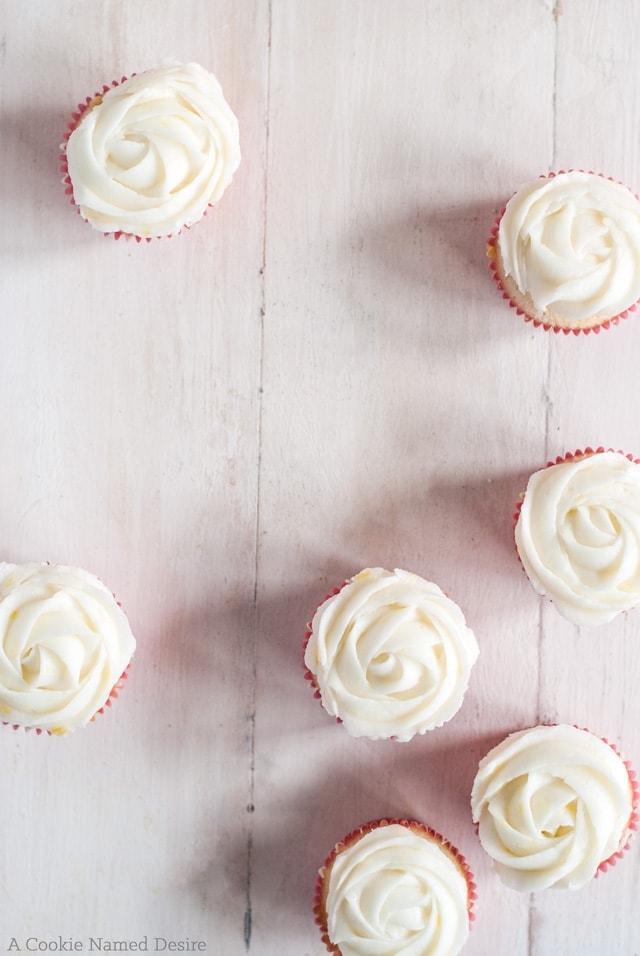 Mini vanilla berry citrus cupcakes