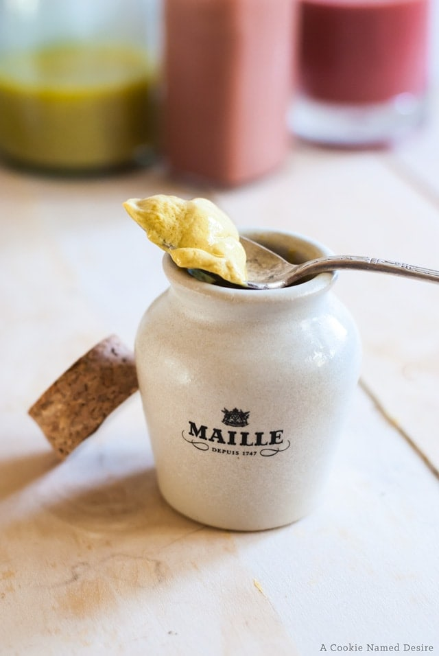 Maille mustard is high quality dijon mustard with complex flavors