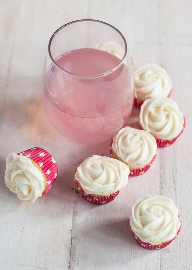 Mini Berry Citrus Cupcakes