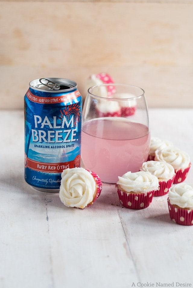 Mini berry citrus cupcakes