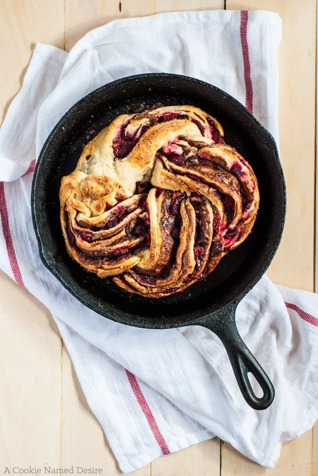 Raspberry Nutella Swirl Bread