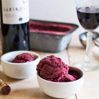 Cool down with blackberry pomegranate sorbet and Ribera y Rueda wines