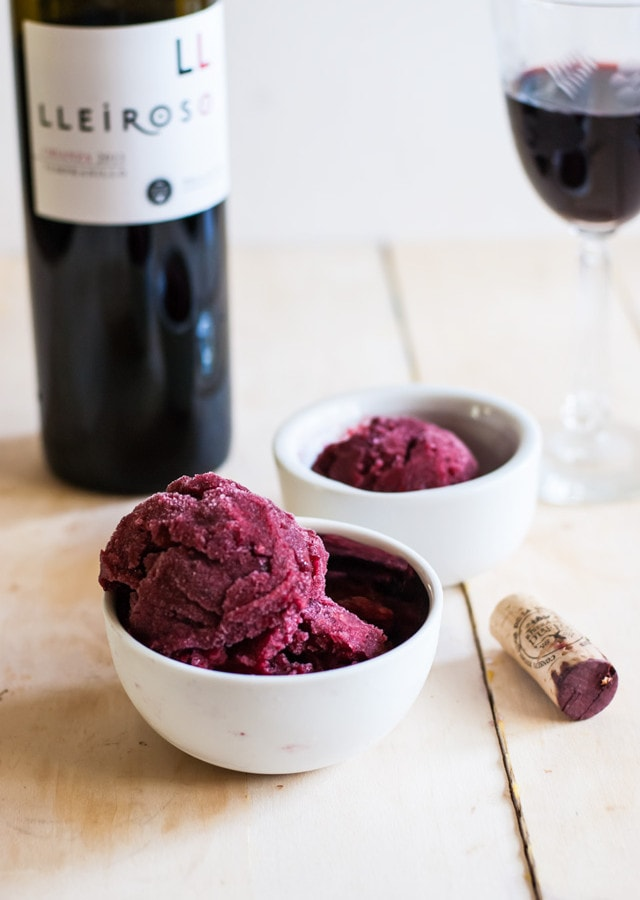 Blackberry Pomegranate Sorbet