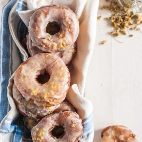 lemon & chamomile brioche doughnuts recipe