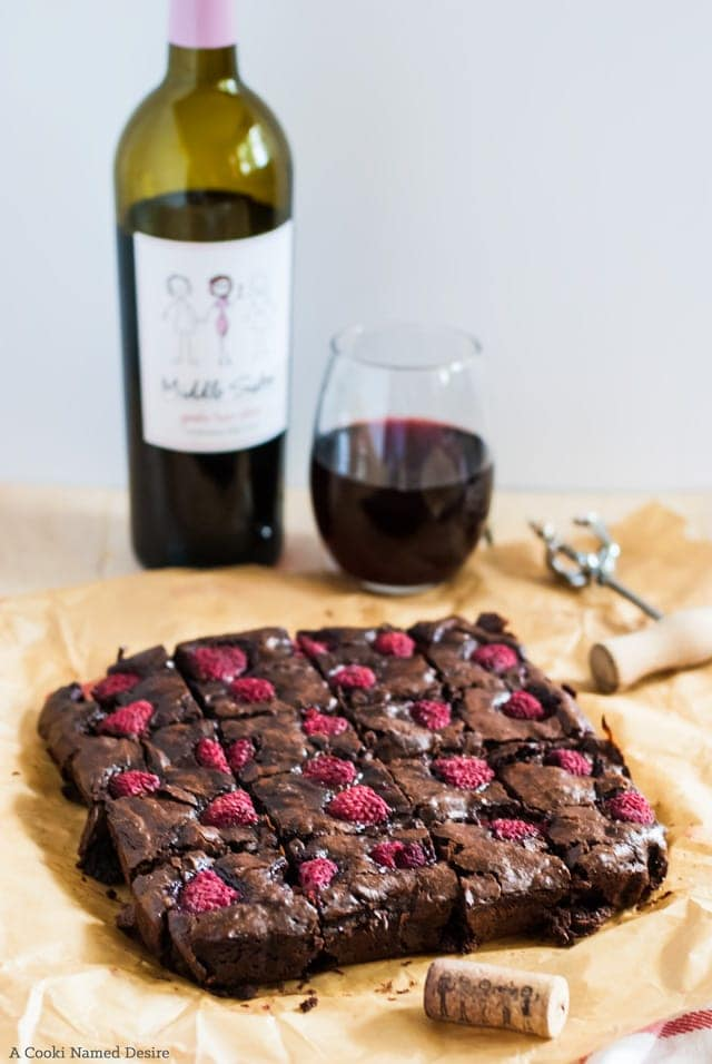 Super fudgy raspberry brownies