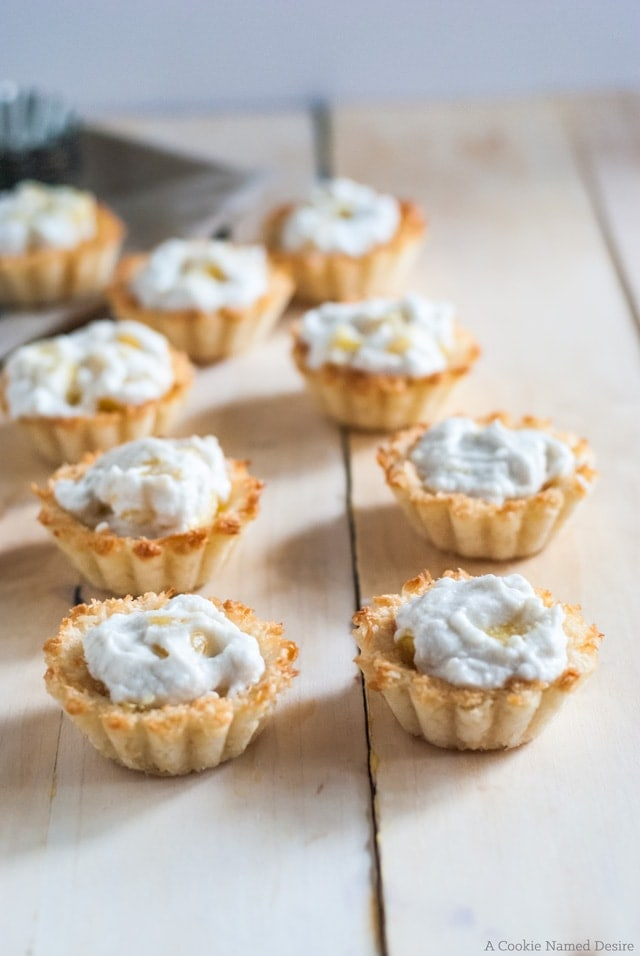 Macaroon bites with cooling coconut whipped cream and warming ginger