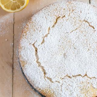 olive oil lemon lavender semolina cake