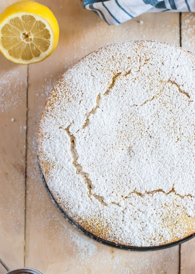 Lemon and Lavender Semolina Cake