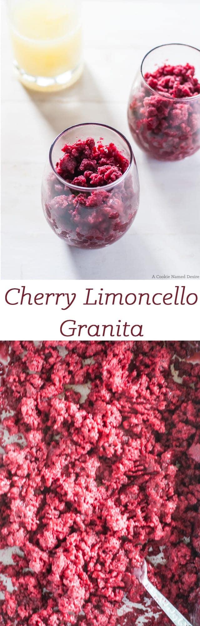 cherry limoncello granita