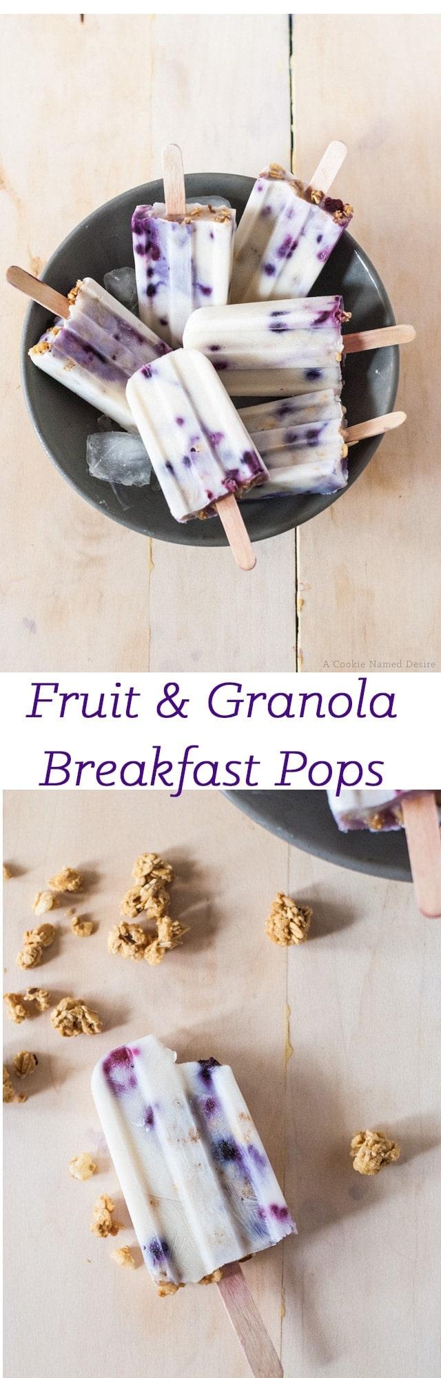 fruit and granola breakfast pops