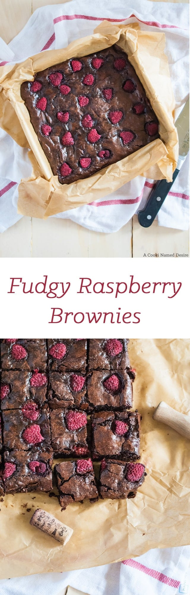 The fudgiest raspberry brownies ever