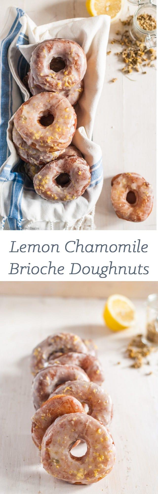 lemon chamomile brioche doughnuts