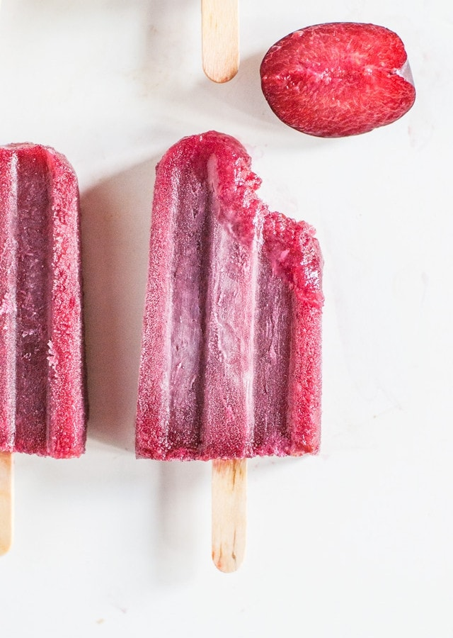 Plum and Wine Popsicles