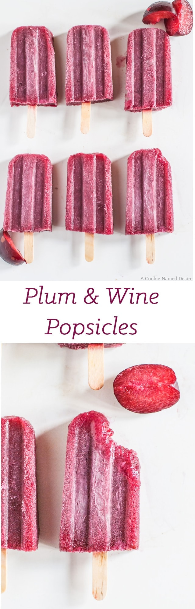 Plum and wine popsicles - the perfect adult summer treat