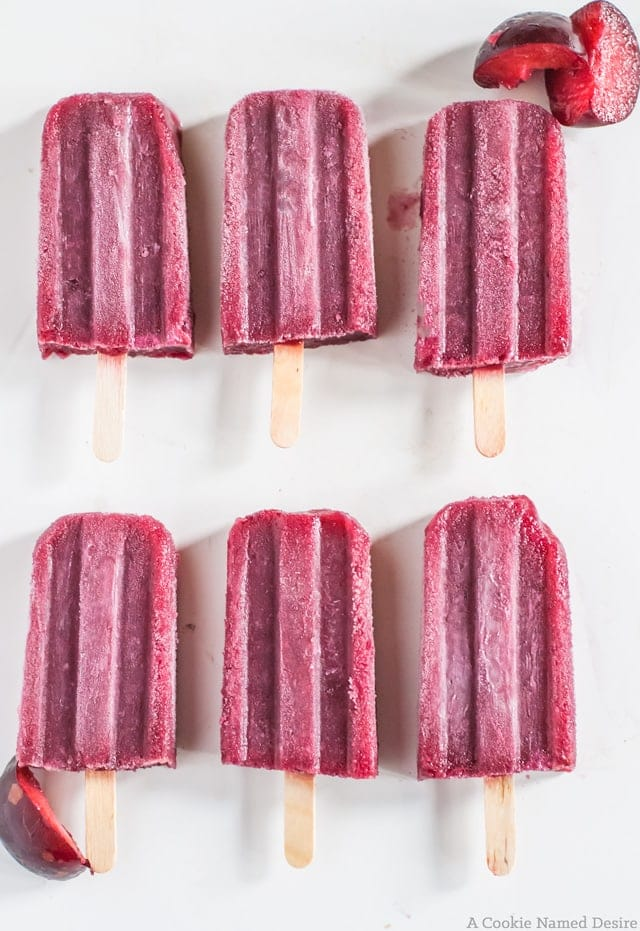 plum and red wine popsicles