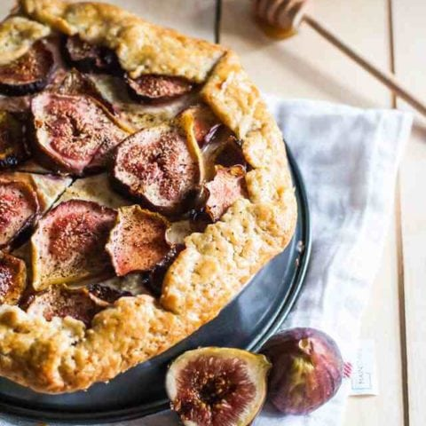 Fig and Honey Galette with Cream Cheese and Mascarpone