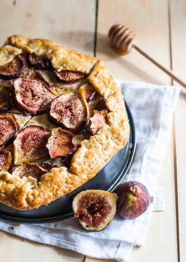 Fig And Honey Cheesecake Galette