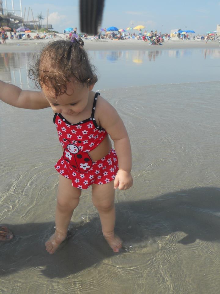 Nadia at the beach