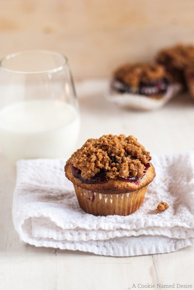 Rich berry cobbler muffins are the best way to wake up in the morning