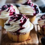 Blackberry Lime Cupcakes with Lime Frosting