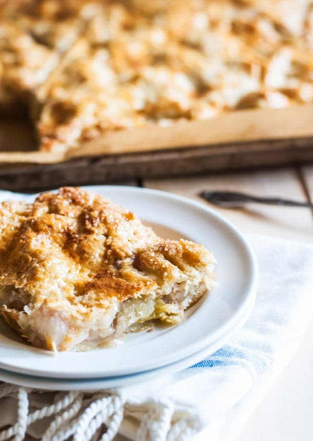 Peach Rhubarb Slab Pie