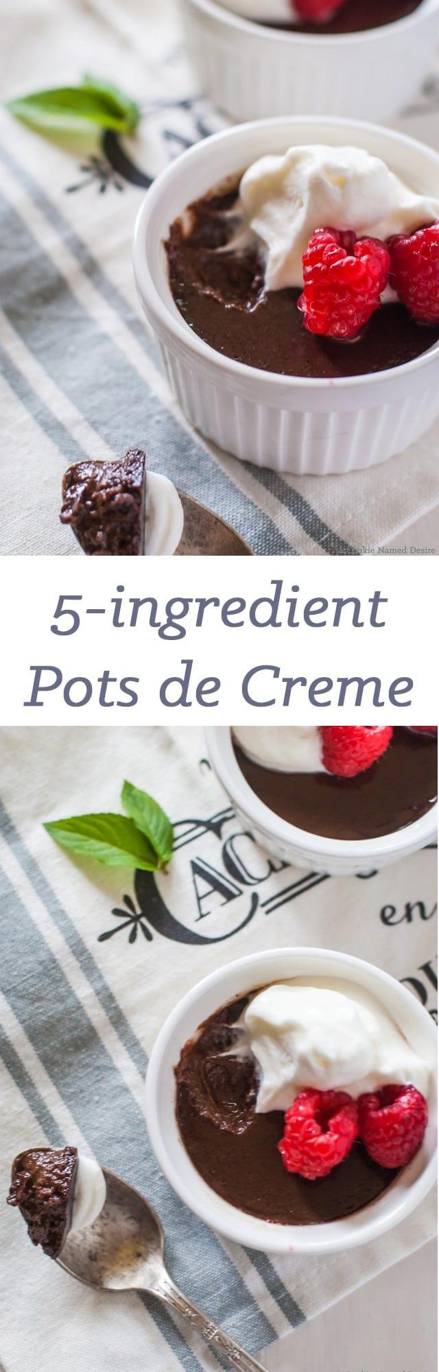 simple 5 ingredient pots de creme - dairy free dessert!