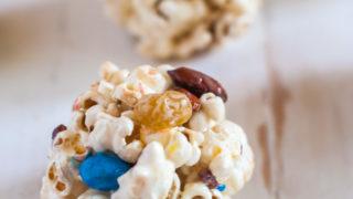 Trail Mix Popcorn Balls