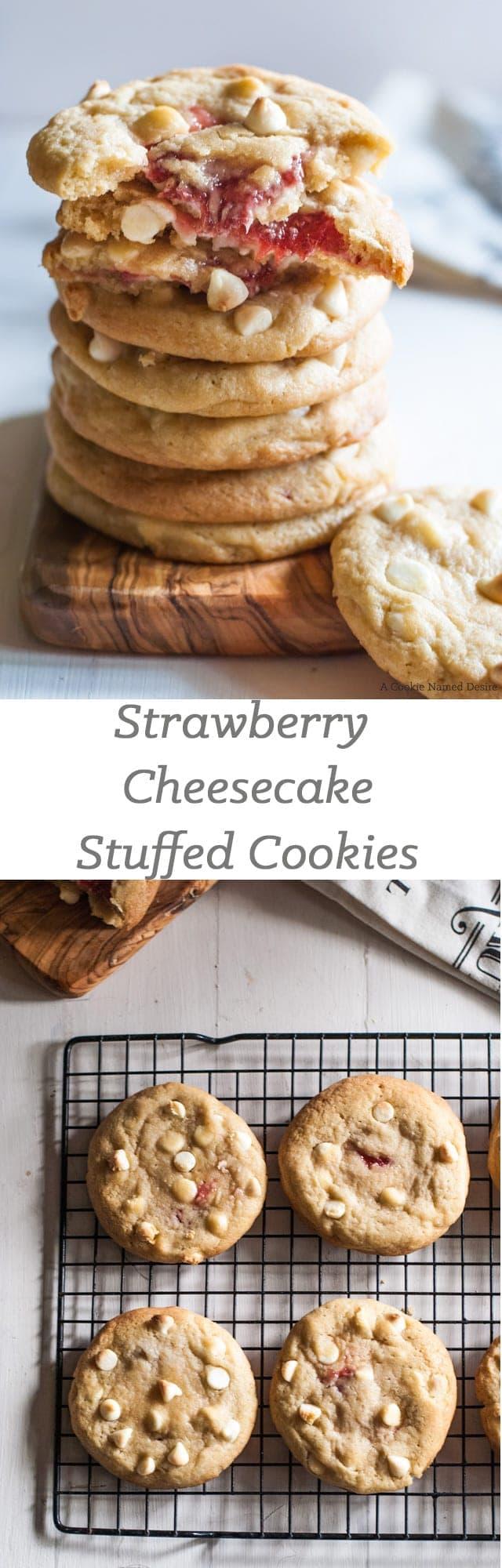 strawberry cheesecake stuffed cookies recipe