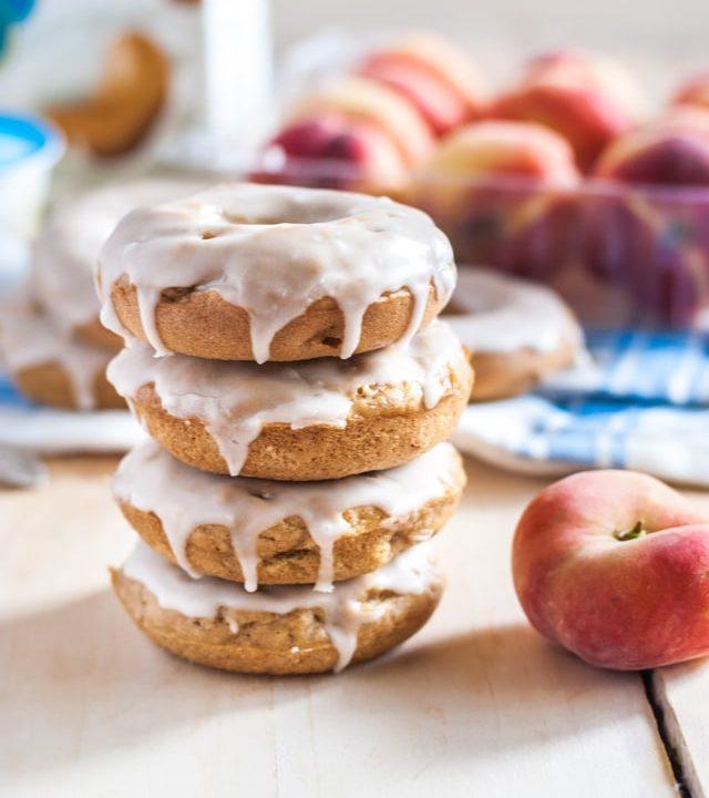 Deliciously addictive vegan peaches and cream doughnuts