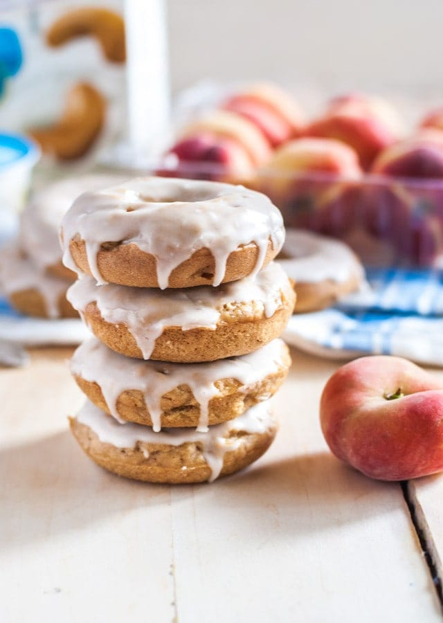 Deliciously addictive vegan peaches and cream doughnuts