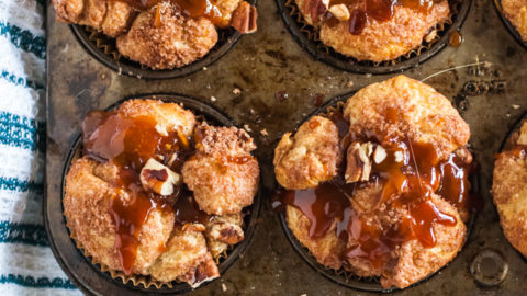 Caramel Apple Pecan Muffins