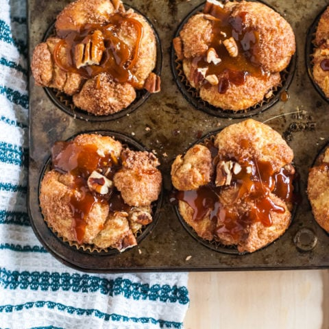 apple pecan pull apart bread with caramel