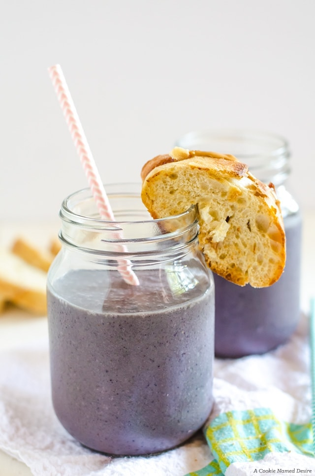 This peanut butter and jelly smoothie is one of my favorite smoothies to make