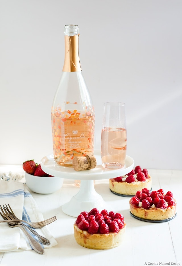 Refreshingly fruity tarts pair perfectly with Caposaldo Sparkline Peach Moscado Wines
