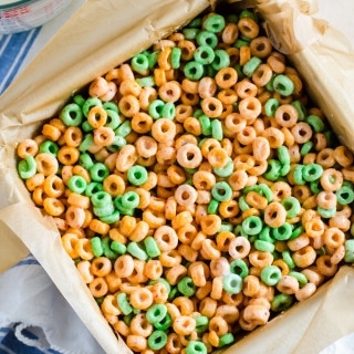 Milk and cereal bars with apple jacks - why have breakfast any other way