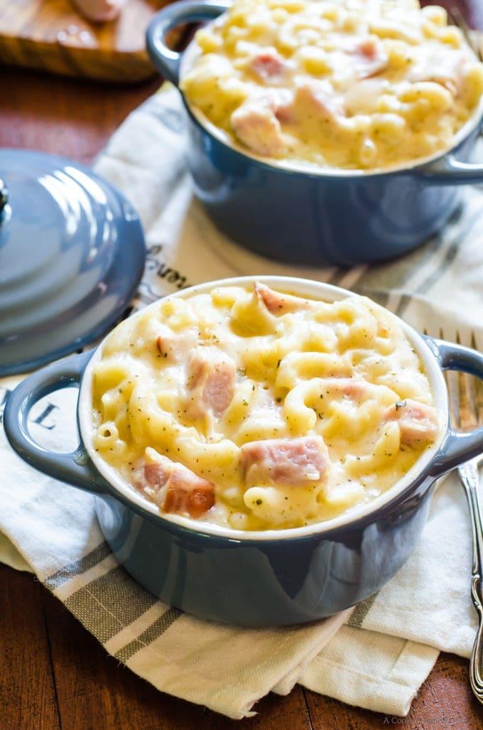 spicy ham macaroni and cheese