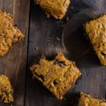 Chocolate Chunk Caramel Pumpkin Blondies