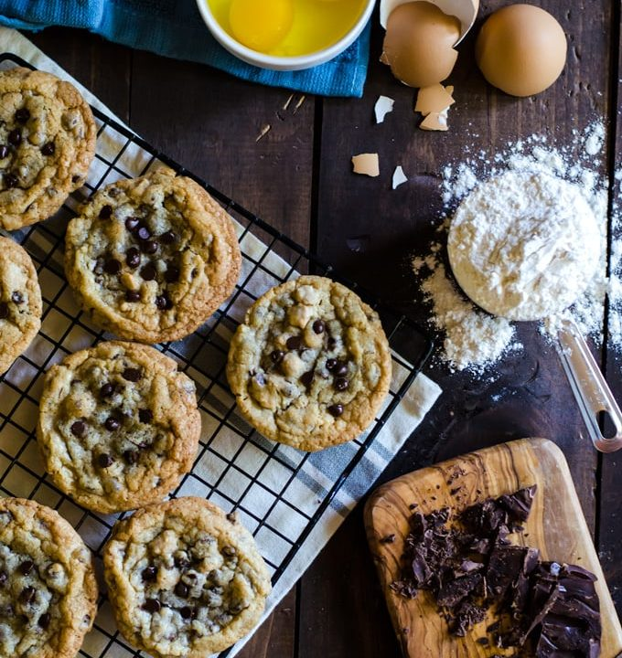 These chocolate chip cookies are my favorite. I make them all the time and my family can't get enough!