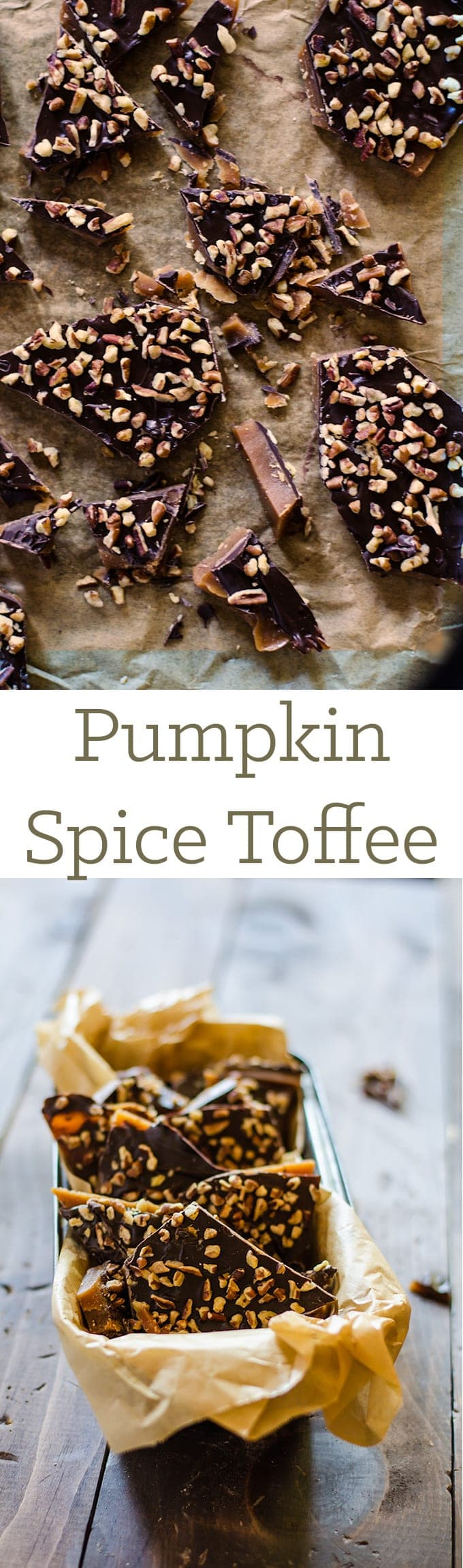 pumpkin spice toffee - what and easy and delicious treat your family and friends will love! The perfect candy to gift for the holidays!