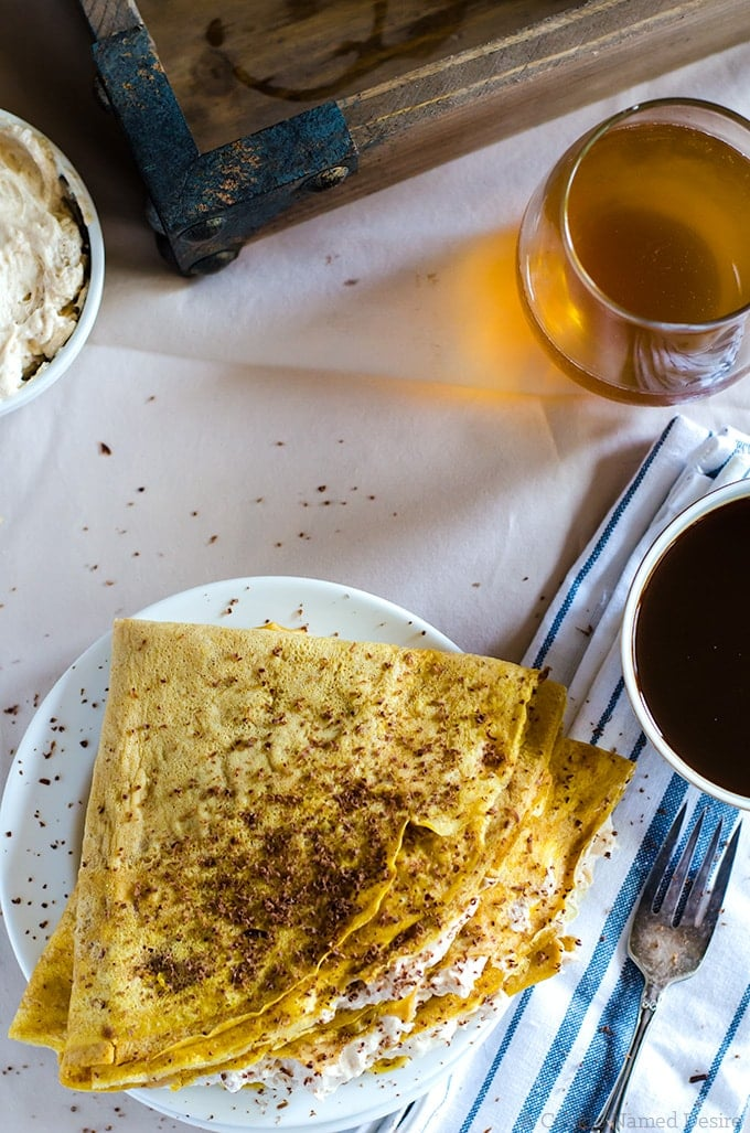 Pumpkin crepes are essential to your weekend brunch plans