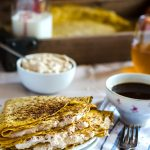 Pumpkin Crepes with Cinnamon Ginger Cheesecake Filling