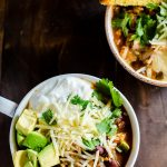 A healthy and hearty pumpkin chili with ground turkey and a ton of veggies