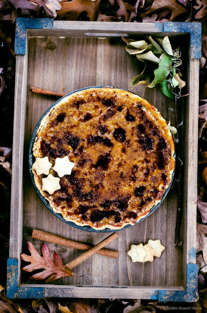 You've got to try this brûlée butternut squash pie with brown butter bourbon pie crust. It's a must-make for Thanksgiving dinner