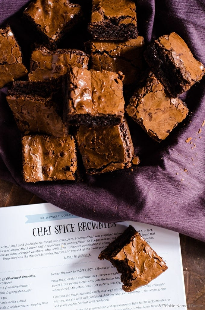 Chai spiced brownie recipe
