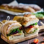 You are going to want to eat this chicken and pesto sandwich every say of your life! It makes the perfect lunch and can be eaten hot or cold. Yum!